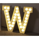'VEGAZ' METAL LETTER WITH LED BULBS h. Cm. 60 - W