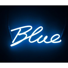 'SHADES-Blue' NEON LAMP WITH TRANSFORMER 220V 2Kv - Blue