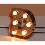'CARACTÈRE LAMP' METAL LETTER WITH LED BULB Cm.18 h.20,1 - D