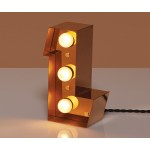 'CARACTÈRE LAMP' METAL LETTER WITH LED BULB Cm.11,8 h.20 - L