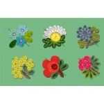 'FLORIGRAPHIE' COASTERS IN STRAW, 6 PCS - ASSORTED MODELS