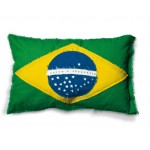 'FLAGS-BRASIL' COTTON LINING CUSHION Cm.80x50