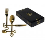 'GOLD-KEYTLERY' SET OF 24 CUTLERY 18/0 STAINLESS ELECTROPLATED, 6 PLACES