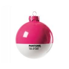 'CHRISTMAS-PANTONE® 18-2120' GLASS BALL ø Cm.8 - HONEY SUCKLE