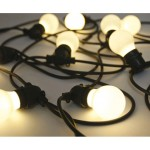 'BELLAVISTA' SET OF 10 GARDEN LED LIGHTS Mt. 14,2 - BLACK WIRE