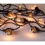 'BELLA VISTA CLEAR' SET OF 10 GARDEN LED LIGHTS Mt. 14,2 - BLACK WIRE