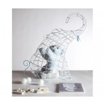 'FANTASTICO DOMESTICO-ELEPHANT' BASKET IN VARNISHED METAL Cm.39x60 h.51