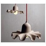 'EGG OF COLUMBUS' SUSPENDED CARTON LAMP ø Cm.26,5