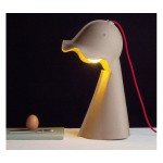 'EGG OF COLUMBUS' TABLE CARTON LAMP Cm.17x25 h.41