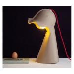 'EGG OF COLUMBUS' TABLE CARTON LAMP Cm.17x25 h.41