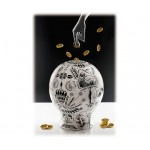 'THE MONEYBOX' MONEY BOX IN PORCELAIN ø Cm.28 h.34,5