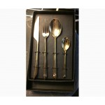 CUTLERY SET 'COSMIC-DINER-QUASAR':KNIFE,FORK,SPOON AND COFFEE SPOON