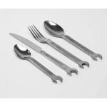 CUTLERY SET 'DIY':KNIFE,FORK,SPOON AND COFFEE SPOON STAINLESS STEEL 18/0