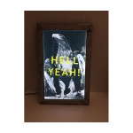POSTER FOR PET WITH FRAME 'FRAME IT!' - 'HELL YE AH!' Cm.21,5x34,5