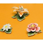 SET OF 3 PCS PORCELAIN FLOWERS WITH MAGNETS 'FLOWER ATTITUDE' - #1