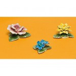 SET OF 3 PCS PORCELAIN FLOWERS WITH MAGNETS 'FLOWER ATTITUDE' - #3