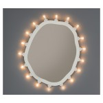 MEDIUM MDF MIRROR  WITH BULBS 'LUMINAIRE' Cm.55x67