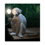 'MONKEY LAMP' RESIN LAMP Cm.34x30 h.32 - SITTING