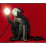 'MONKEY LAMP-OUTDOOR' RESIN LAMP Cm.34x30 h.32 - SITTING - BLACK