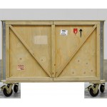 'EXPORT COMÒ' WOODEN CABINET 2 DOORS WITH WHEELS Cm.120x55 h.95