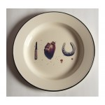 'TOILETPAPER' PLATE METAL ENAMELED ø Cm.26 - I LOVE YOU