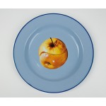 'TOILETPAPER' PLATE METAL ENAMELED ø Cm.26 - APPLE