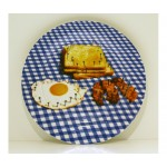 'TOILETPAPER' PORCELAIN DINNER PLATE ø Cm.27 - BREAKFAST