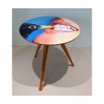 'TOILETPAPER' WOODEN TABLE ø Cm.48 h.49,5 - BLACKBIRD