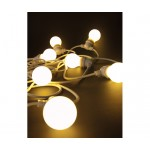 'BELLAVISTA' SET OF 10 GARDEN LED LIGHTS Mt. 14,2 - WHITE WIRE