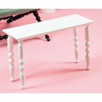 COFFEE TABLE IN WOOD TURNED 'HERITAGE' Cm.65x25 h.40 - WHITE