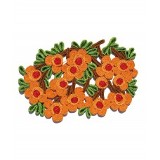 'FLORIGRAPHIE-CAMELIA' STRAW TABLE MAT Cm. 50x34