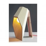 'WOODSPOT' WOODEN TABLE LAMP Cm.22x23 h. 44 - WHITE