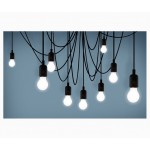 'MAMAN' SET OF 14 LED LIGHTS - BULB DIMMABLE SATIN