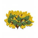 'FLORIGRAPHIE-MIMOSA' STRAW TABLE MAT Cm. 50x34