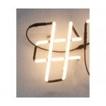 'NEON FONT' NEON LAMP SHAPED Cm.18 h. 25 - #