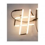 'NEON FONT' NEON LAMP SHAPED Cm.18 h. 25 - #